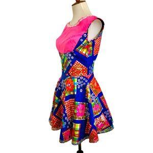 Vintage 70s Handmade Mini Dress Juniors XS